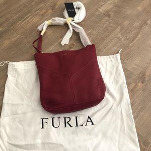 Furla Holly Leather Crossbody Bag Purse